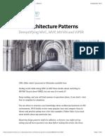 IOS Architecture Patterns — IOS App Development — Medium