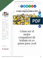 Cómo Ser El Mejor Compañero de Trabajo en 10 Pasos Para 2018 _ David Tomás