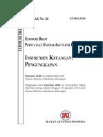 ED PSAK 60 Revisi 2010 Instrumen Keuangan Pengungkapan