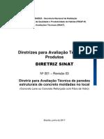 Diretriz para Avaliação Técnica de paredes estruturais de concreto moldadas no local (Concreto Leve ou Concreto Reforçado com Fibra de Vidro).pdf