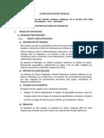 II Especificaciones Técnicas