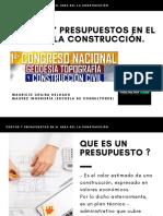 COSTOS Y PRESUPUESTOS EN EL AREA DELA CONSTRUCCION