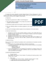 MBA TRM Curriculum