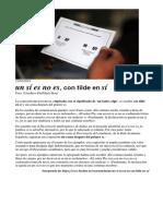5. Un Sí Es No Es, Con Tilde en Sí