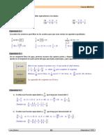 Examen de Fracciones. Operaciones y Problemas.