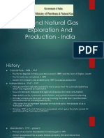Exploration and production of hydrocarbons in india