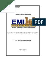 Elaboracion de Probetas de Concreto Con Aditivo