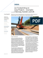 Carbon Footprinting on Highway Projects - Examples From Norway, Sweden and UK