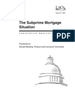 Subprime Mortgage 08 21 07
