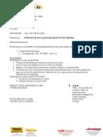 Cotizacion a Scania de Pernos Anclaje Para Bancos de Prueba