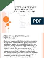 Delitos Contra La Eficaz y Recta Imparticion de Justicia - Mauricio