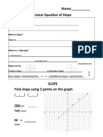 notes   slope and worksheet