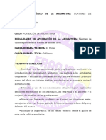 Programa Analitico de La Asignatura Nociones de Economia Plan 2018