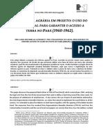 Texto 09 - FONTES, Edilza. a Reforma Agrária Em Projeto