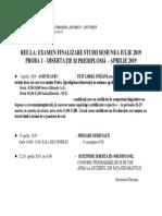 Program Sustinere1 Proba 1 Aprilie 2019