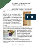 Comentario desigualdades territoriales en España