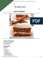 Prăjitură Parfumată Cu Morcovi - Retete Culinare - Romanesti Si Din Bucataria Internationala