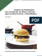 Hamburger de Cerveja - Tutoriais
