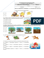 Acumulativa de Ciencias Naturales Primero (Primer Periodo)