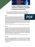 A DIFUSÃO DE NOVAS COMPETÊNCIAS PELA BNCC OS MULTILETRAMENTOS E O ENSINO DA LINGUAGEM NA ERA DAS NOVAS TECNOLOGIAS.doc