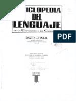 Crystal 1994 [1987] Enciclopedia del lenguaje (Caps. 31 'Lenguaje hablado y escrito' y 33 'Grafémica').pdf