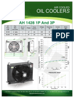 Datasheet of ACE air cooked oil cooler AH1428