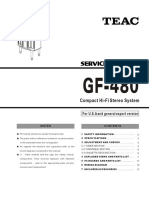 Teac GF 480 Service Manual
