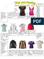 Clothes Different Kinds of Tops