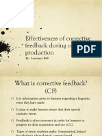 effectiveness of corrective feedback during oral production