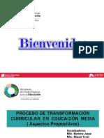 Proceso de Transformación Curricular 2016