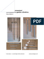 Connessioni Gambo cilindrico legno