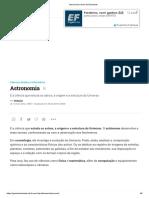 Astronomia _