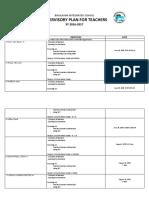 Supervisory Plan for Teachers-secondary August-sept2015