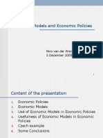 2005 12 05 Economic Models and Their Use in Preparation of Economic Policies
