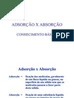 Adsorao x Absorao