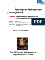 Best Practice in Maintenance Tpm
