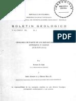 Boletin Geologico. Geologia de parte de los departamentos de Antioquia y Caldas