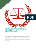 DERECHO PROBATORIO VENEZOLANO.docx