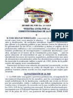 Informe Del Foro Militar Venezolano 14-3-2019