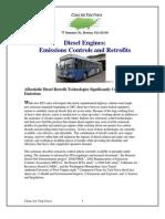 Diesel Engines. Emissions Controls and Retrofits