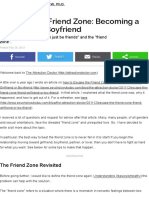Avoiding the Friend Zone