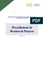 Instructivo Procedimiento Revisión de Proyectos - Versión 11.0