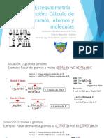 Material Didáctico - Cálculos Químcos Moles, Gramos, Átomos y Moléculas