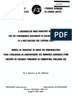 A RADIONUCLIDE MASS-TRANSPORT MODEL FOR THE PERFORMANCE ASSESSMENT OF ENGINEERED BARRIERS IN A USED NUCLEAR FUEL DISPOSAL VAULT