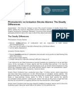 SMOKE ALARM SOLUTIONS The Deadly Differences 23 OCCT 2015