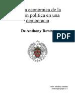 Analisis Del Texto Teoria Economica de La Accion Politica en Una Democracia