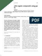 Analysis of VOC Using GC