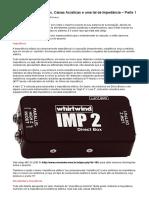 Amplificadores, Caixas Acústicas e Uma Tal de Impedância - Parte 2