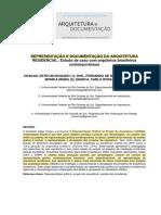 REPRESENTAÇÃO E DOCUMENTAÇÃO DA ARQUITETURA RESIDENCIAL