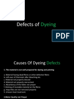 Defects of Dyeing